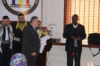Felicitation of Dr. Mustafa Hassan by the student in a surprise function